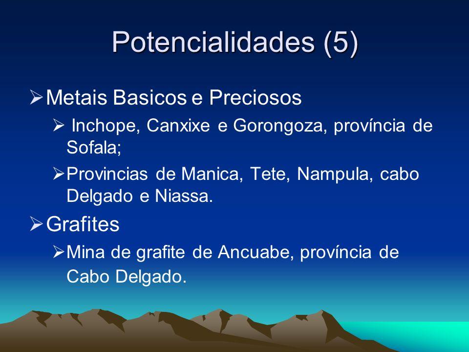 Potencialidades (5) Metais Basicos e Preciosos Grafites