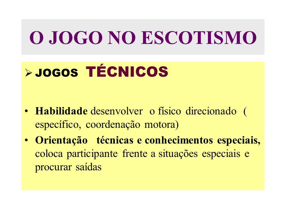 O JOGO NO ESCOTISMO JOGOS TÉCNICOS