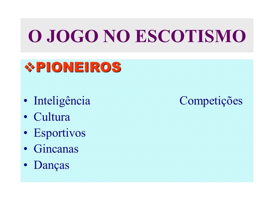 O JOGO NO ESCOTISMO PIONEIROS Inteligência Competições Cultura