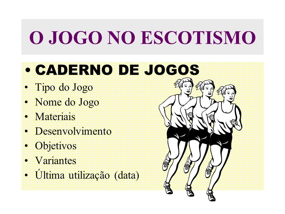 O JOGO NO ESCOTISMO CADERNO DE JOGOS Tipo do Jogo Nome do Jogo