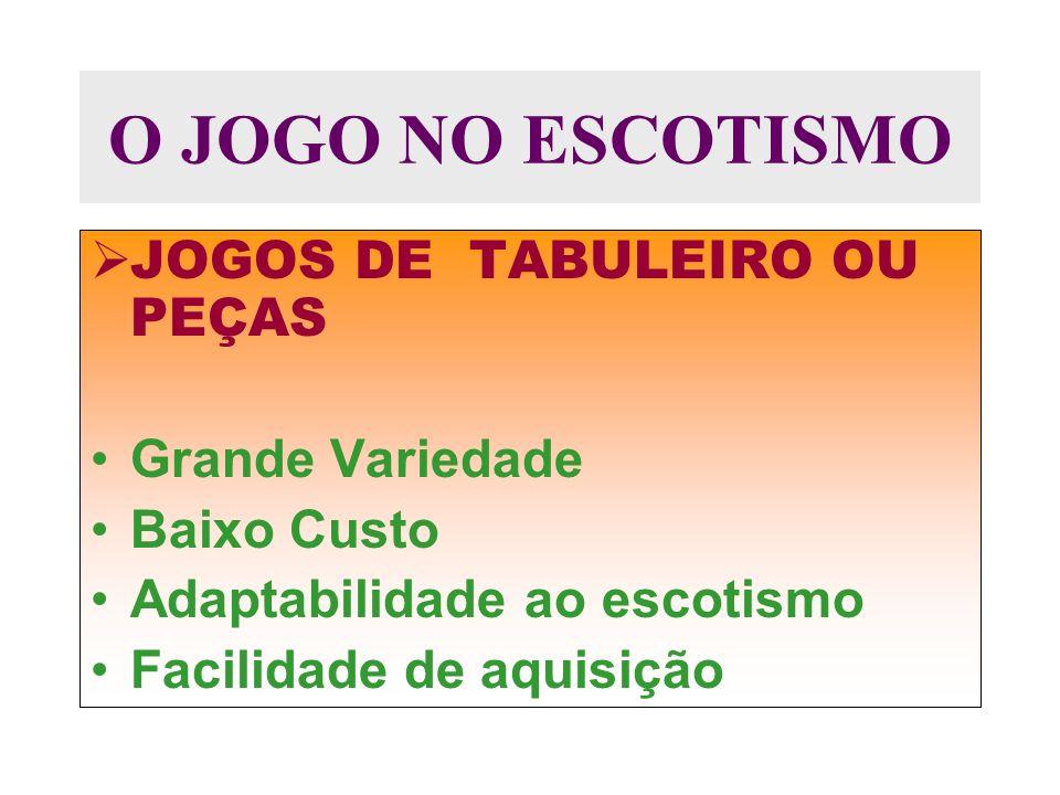 O JOGO NO ESCOTISMO JOGOS DE TABULEIRO OU PEÇAS Grande Variedade