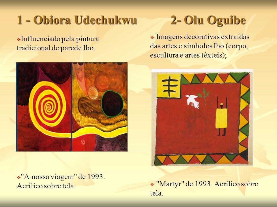1 - Obiora Udechukwu 2- Olu Oguibe