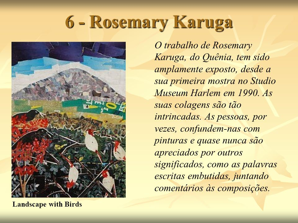 6 - Rosemary Karuga Landscape with Birds.