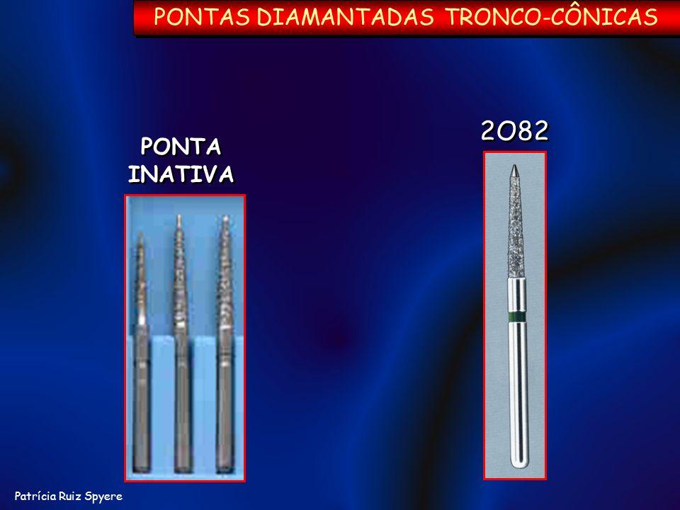 PONTAS DIAMANTADAS TRONCO-CÔNICAS