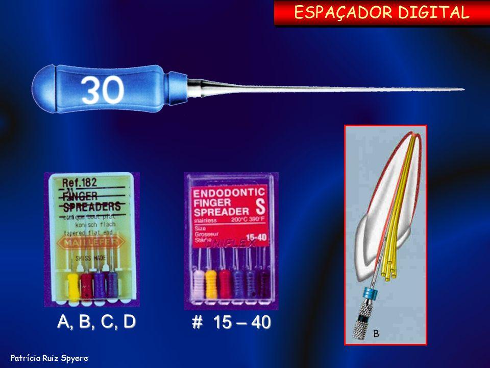 A, B, C, D # 15 – 40 ESPAÇADOR DIGITAL