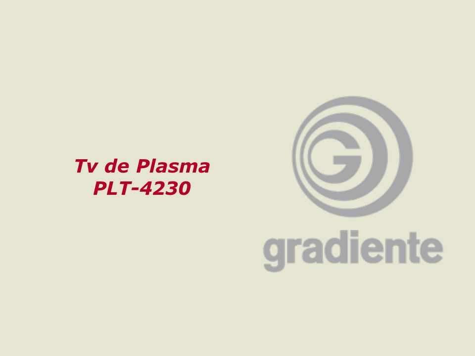 Tv de Plasma PLT-4230 GRADIENTE MULTIMÍDIA