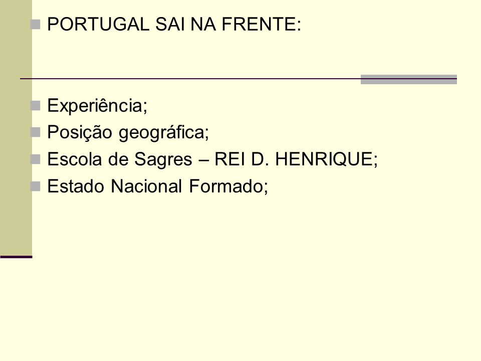 PORTUGAL SAI NA FRENTE: