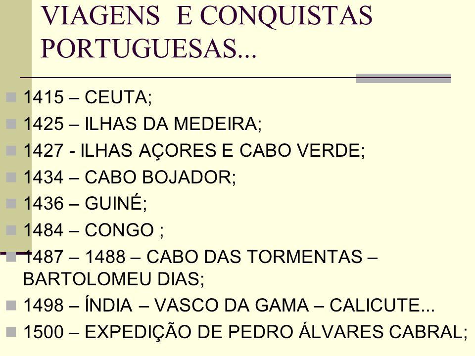 VIAGENS E CONQUISTAS PORTUGUESAS...