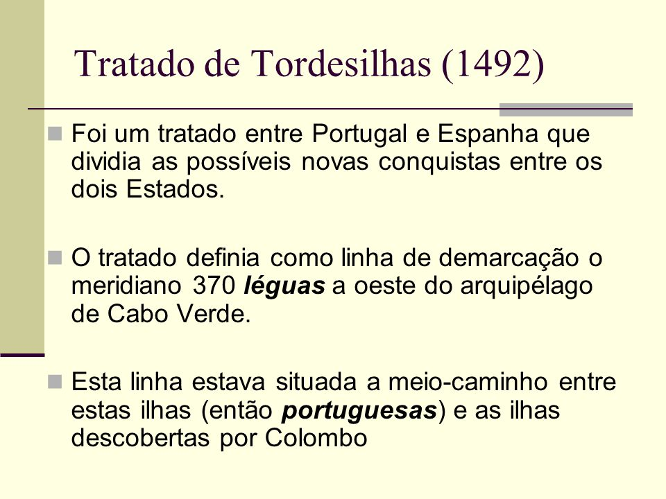 Tratado de Tordesilhas (1492)