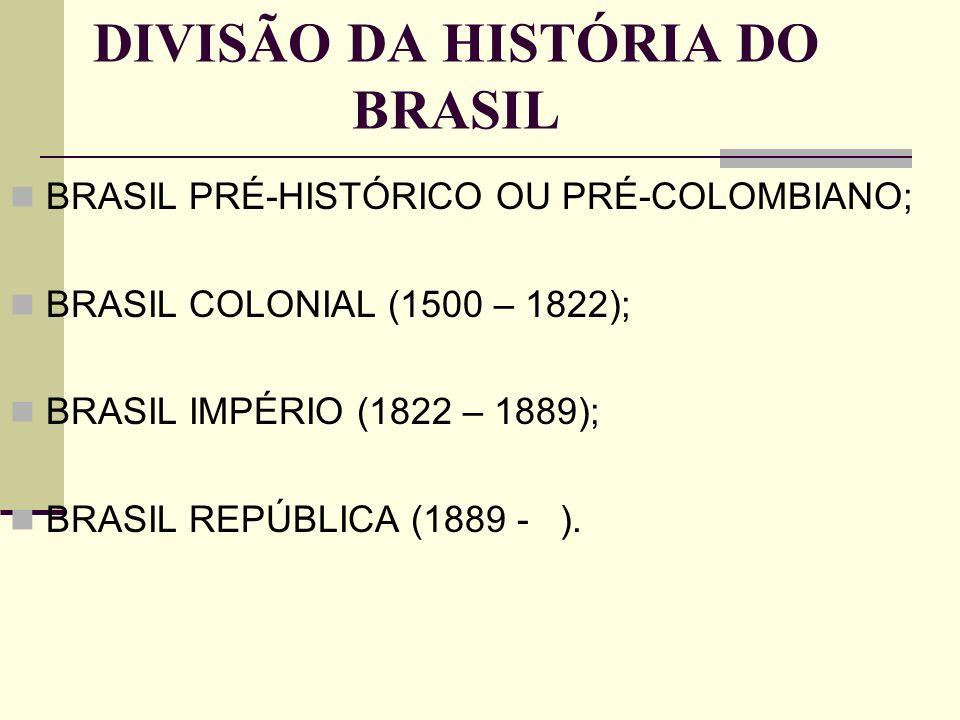DIVISÃO DA HISTÓRIA DO BRASIL