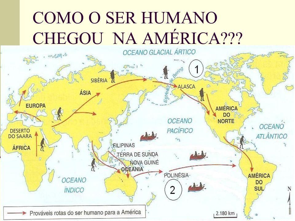 COMO O SER HUMANO CHEGOU NA AMÉRICA