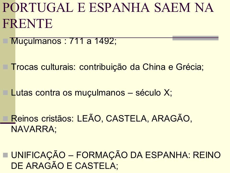 PORTUGAL E ESPANHA SAEM NA FRENTE