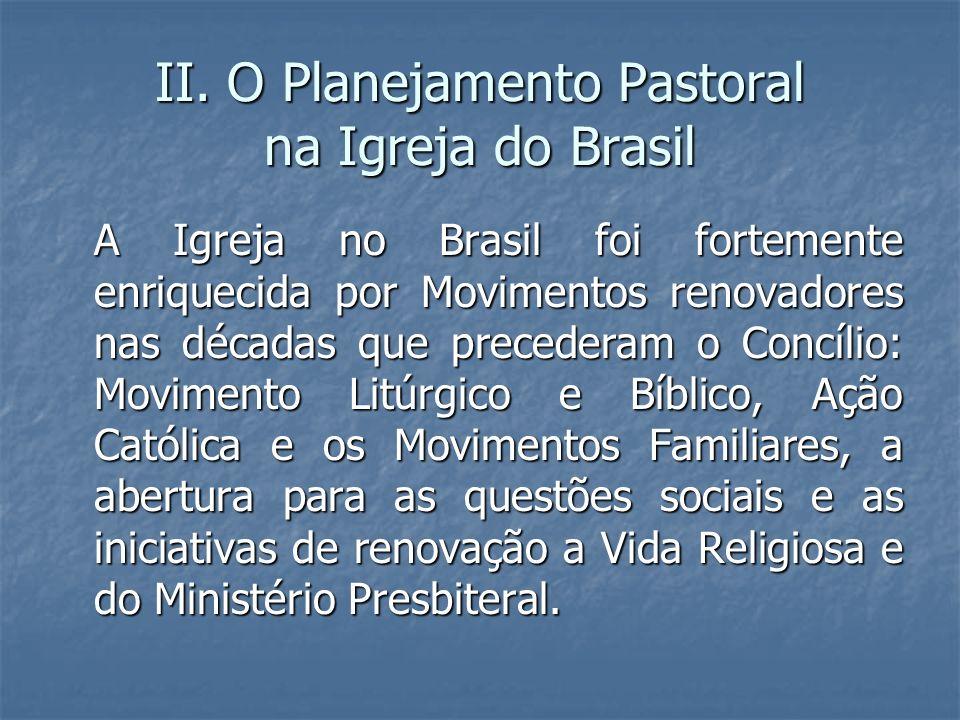 II. O Planejamento Pastoral na Igreja do Brasil