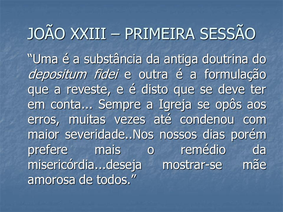 JOÃO XXIII – PRIMEIRA SESSÃO