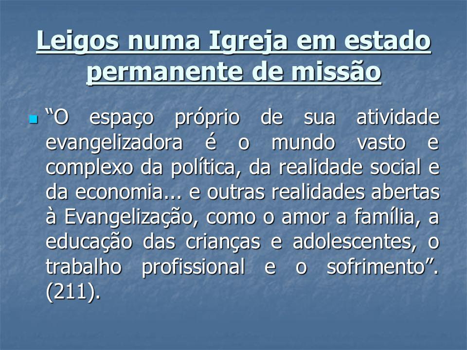 Leigos numa Igreja em estado permanente de missão