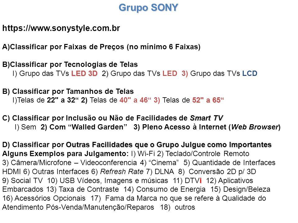 https://www.sonystyle.com.br Grupo SONY