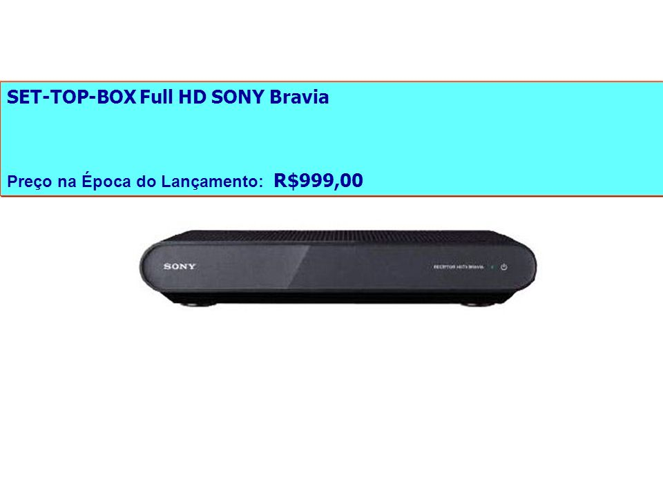 SET-TOP-BOX Full HD SONY Bravia
