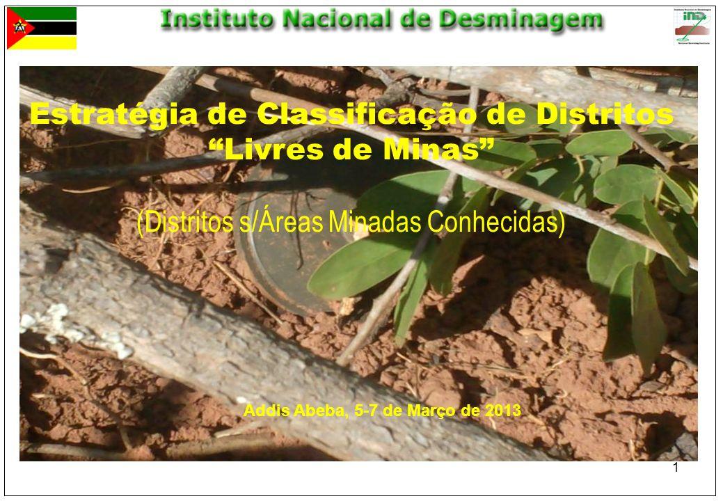 Estratégia de Classificação de Distritos Livres de Minas