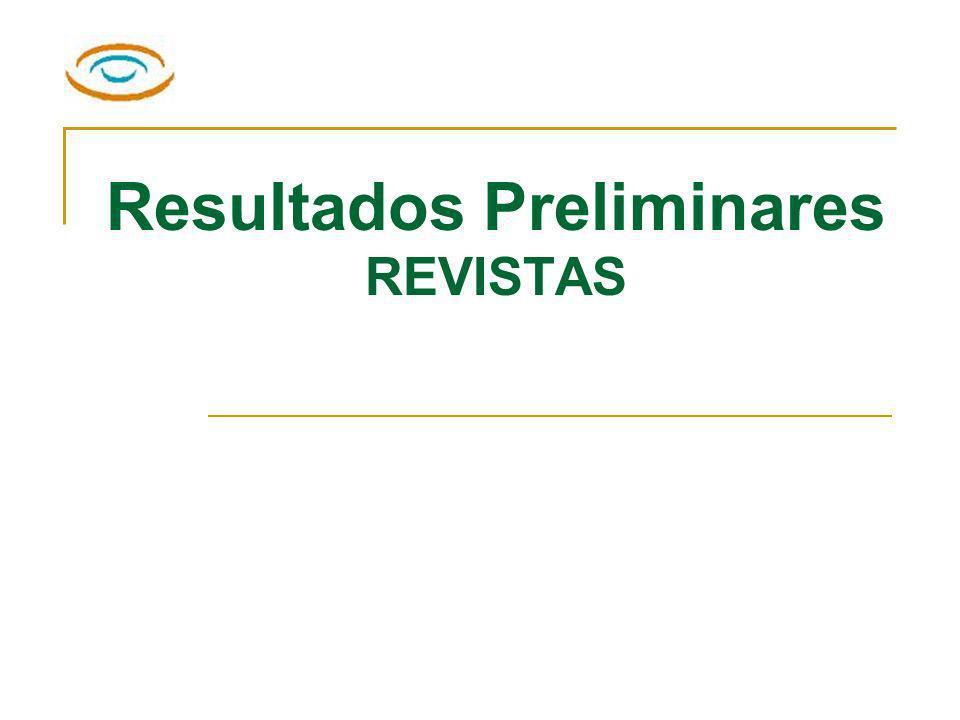 Resultados Preliminares REVISTAS