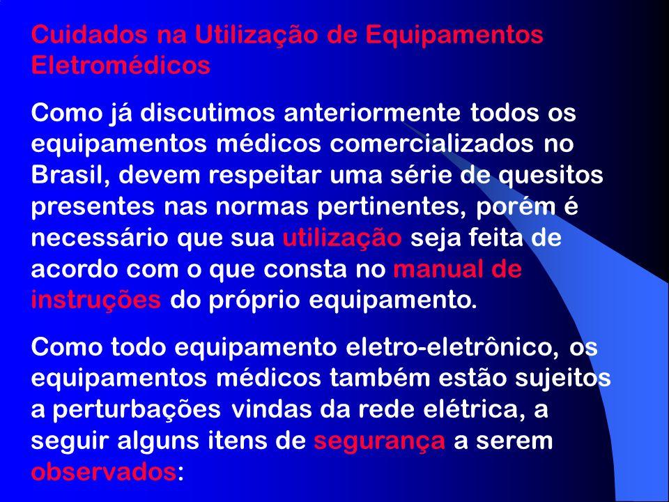 Cuidados na Utilização de Equipamentos Eletromédicos