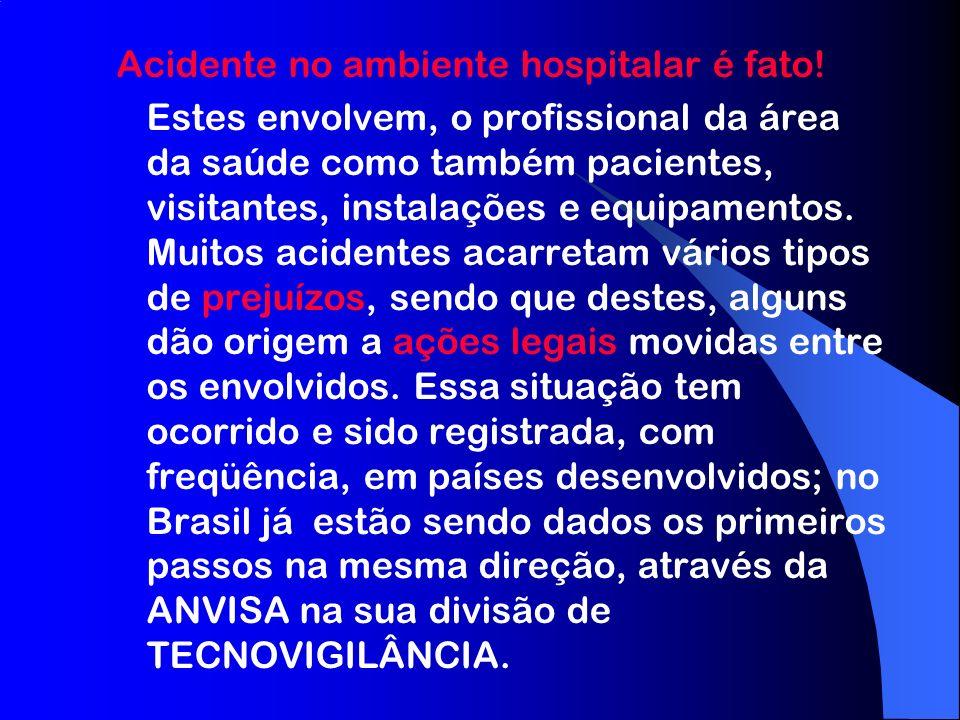 Acidente no ambiente hospitalar é fato!