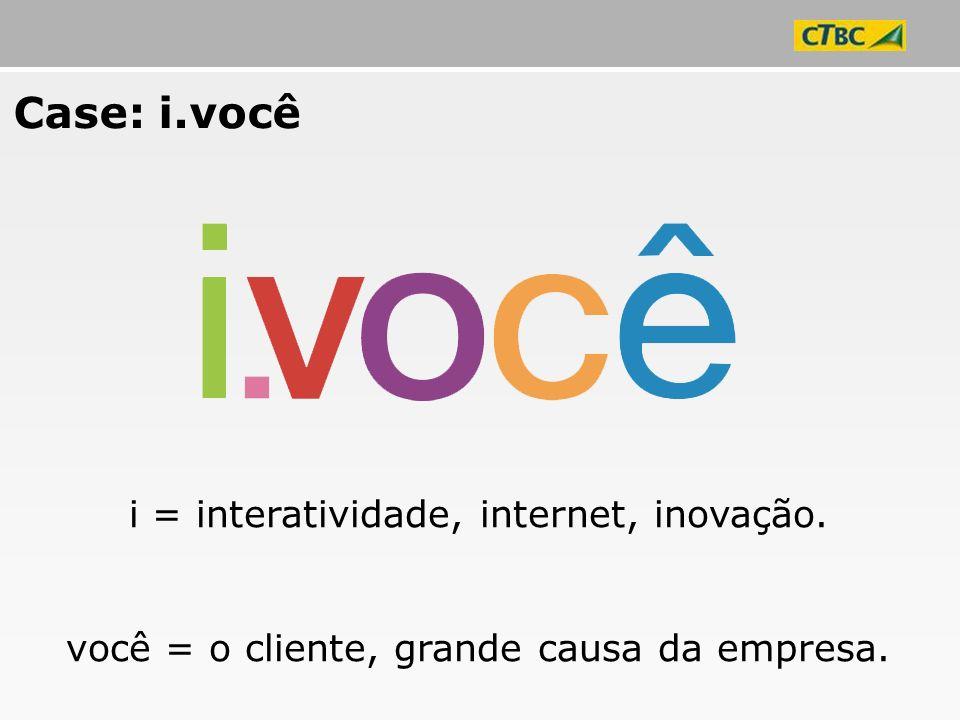 Case: i.você i = interatividade, internet, inovação.