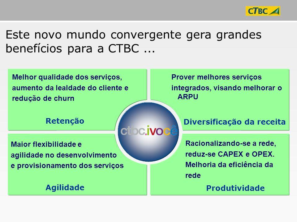 Este novo mundo convergente gera grandes benefícios para a CTBC ...