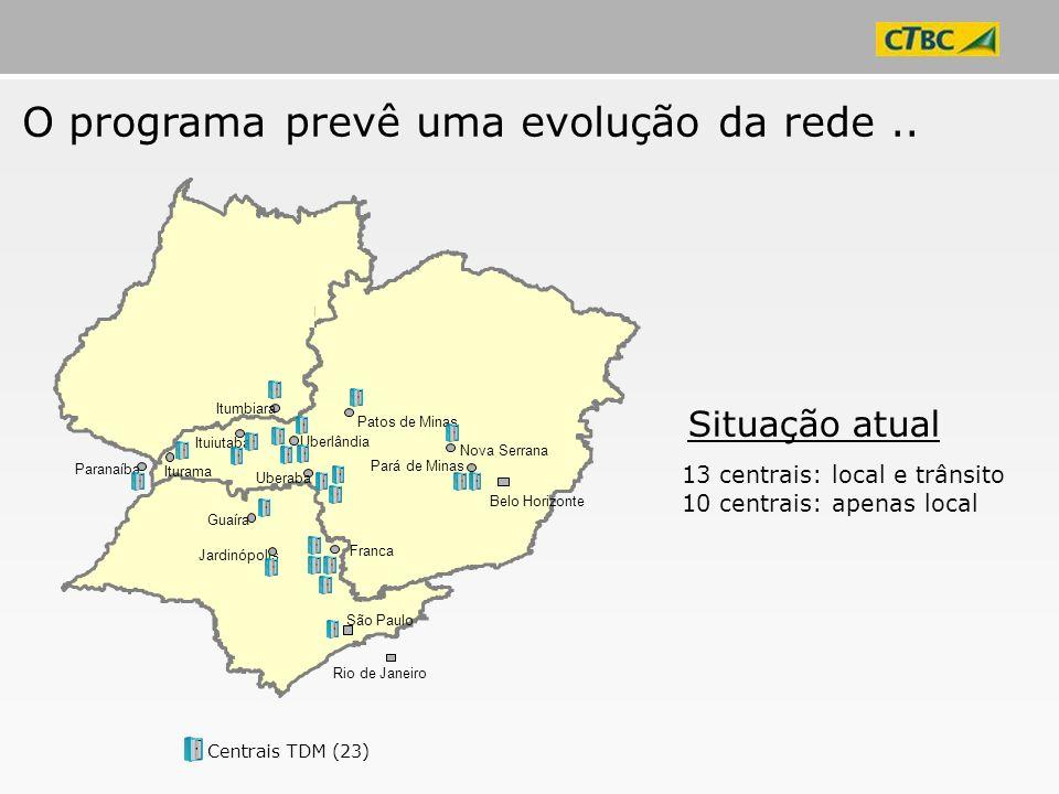 O programa prevê uma evolução da rede ..
