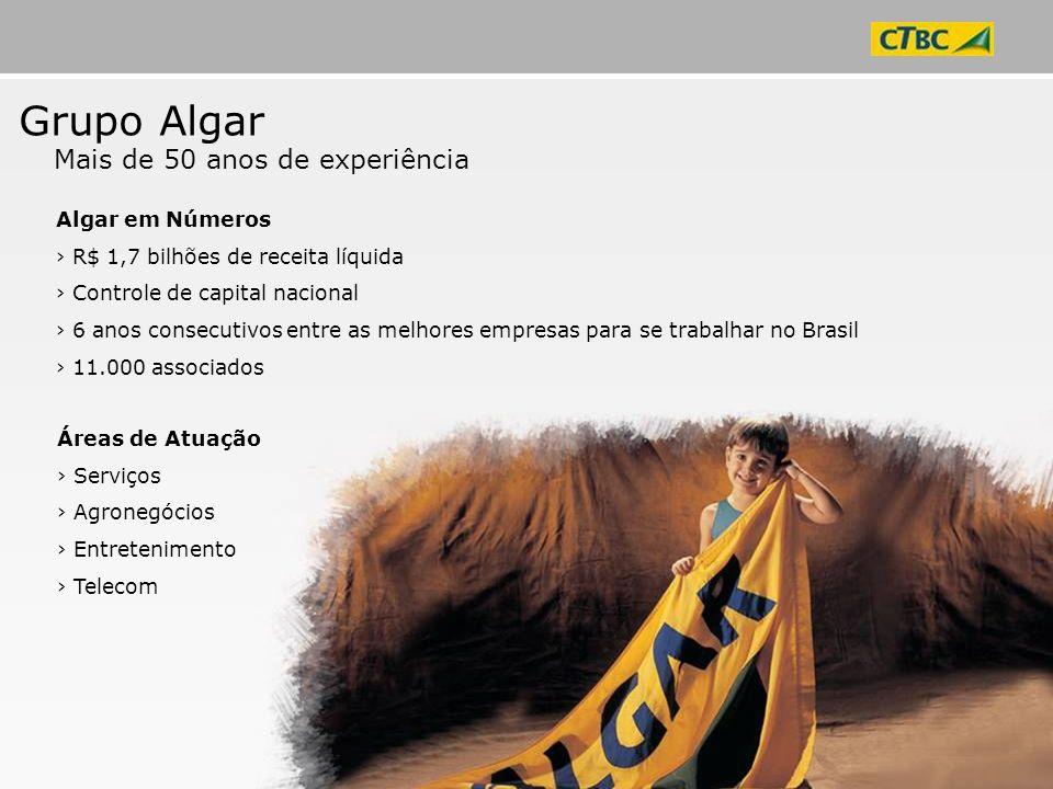 Grupo Algar Mais de 50 anos de experiência Algar em Números