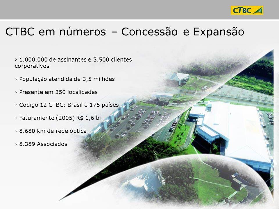 CTBC em números – Concessão e Expansão
