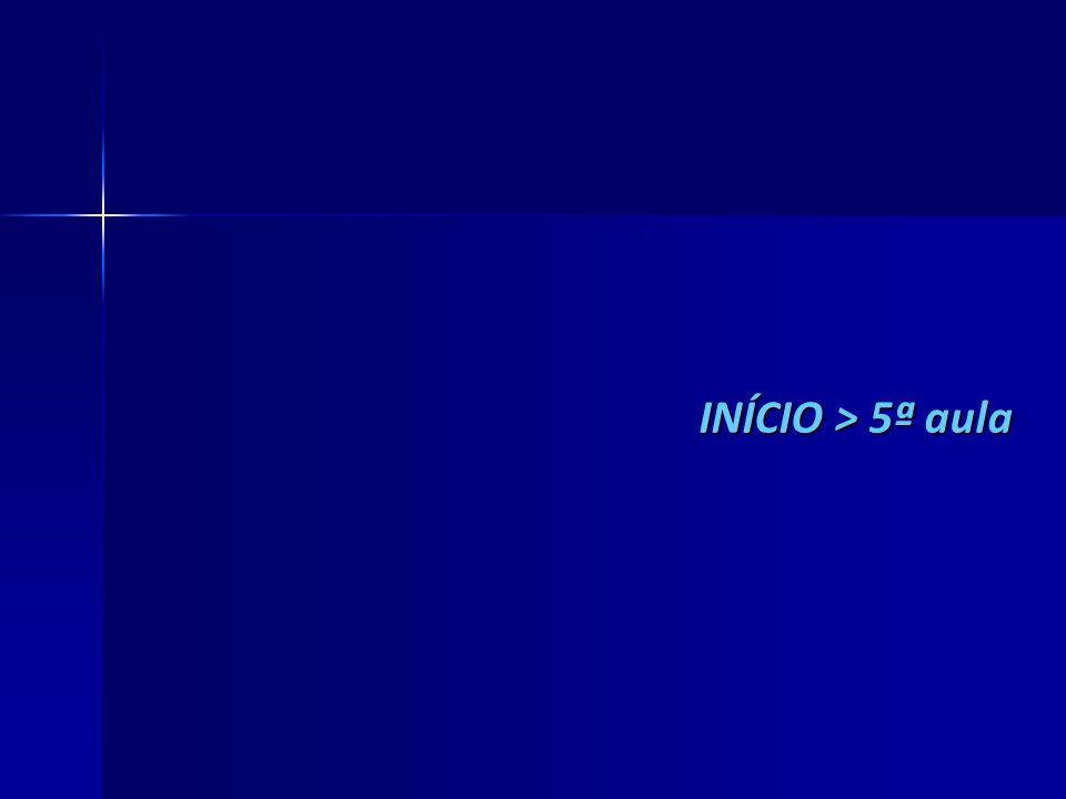 INÍCIO > 5ª aula