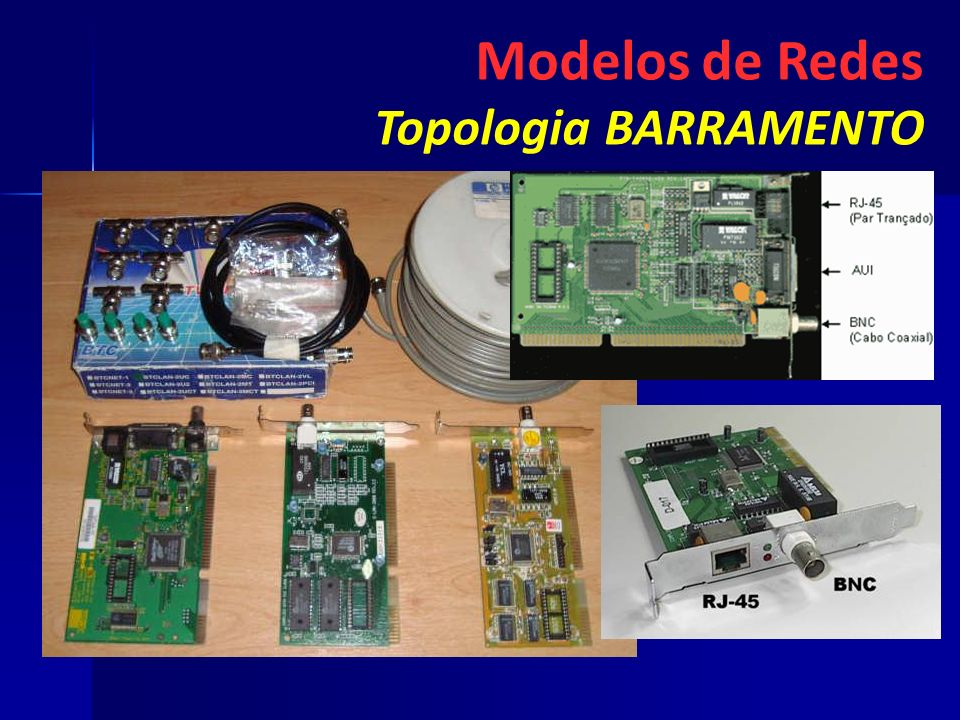 Modelos de Redes Topologia BARRAMENTO 51