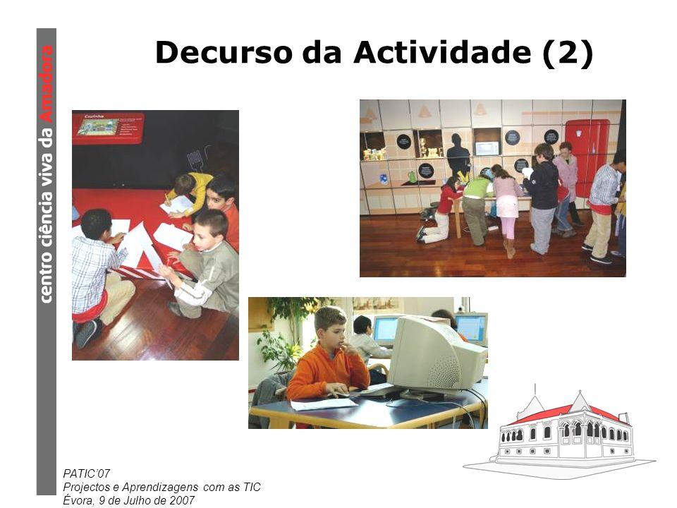 Decurso da Actividade (2)