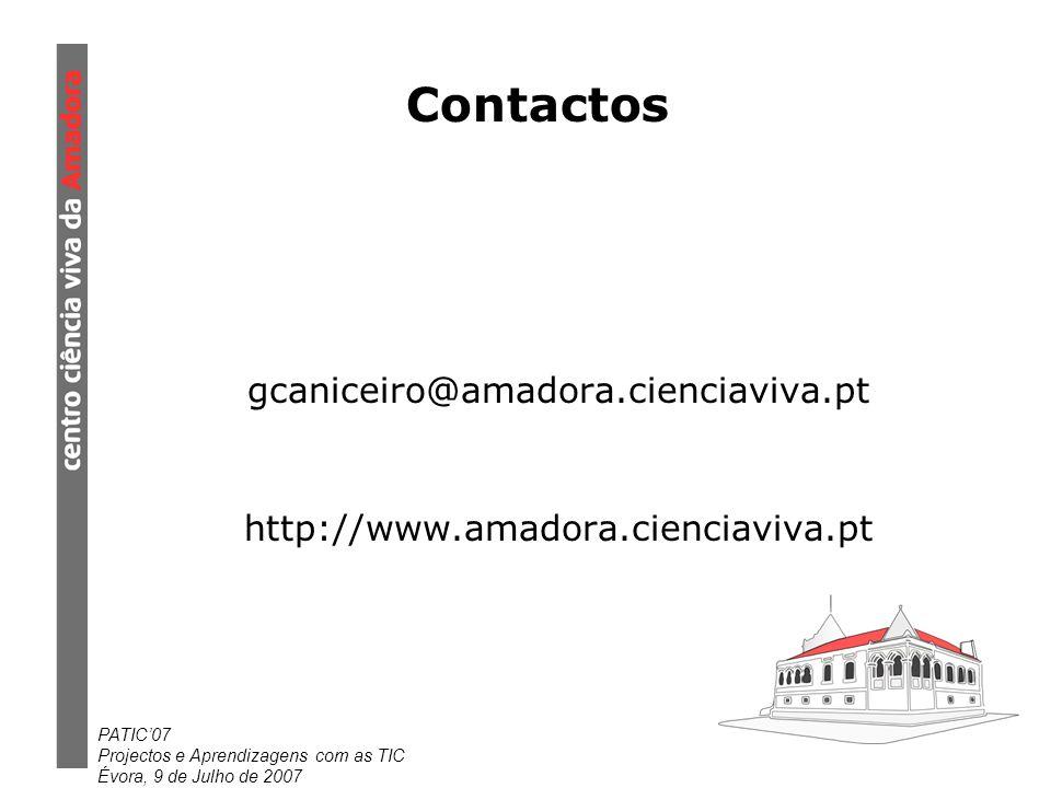 Contactos gcaniceiro@amadora.cienciaviva.pt