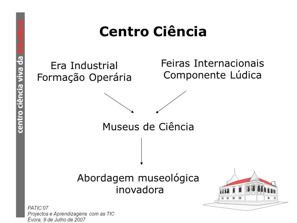 Centro Ciência Feiras Internacionais Era Industrial Componente Lúdica