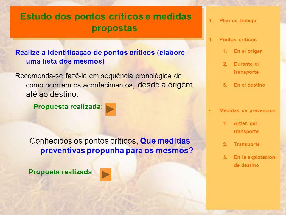 Estudo dos pontos críticos e medidas propostas