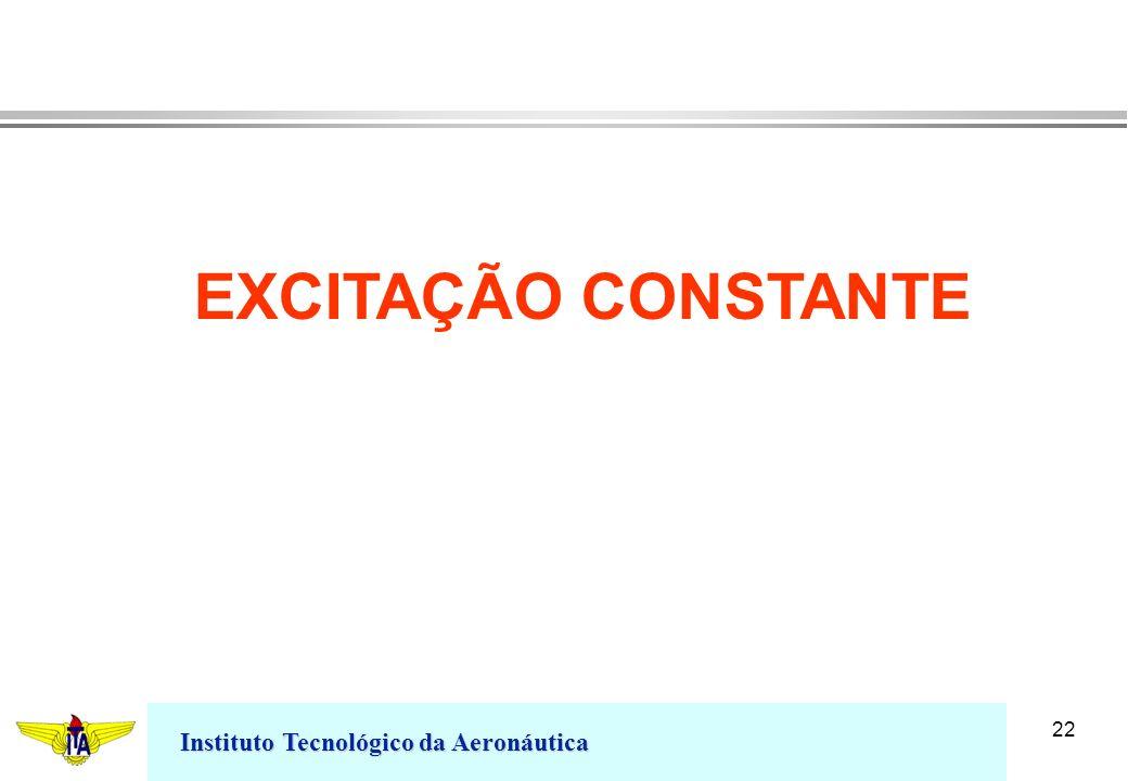 EXCITAÇÃO CONSTANTE