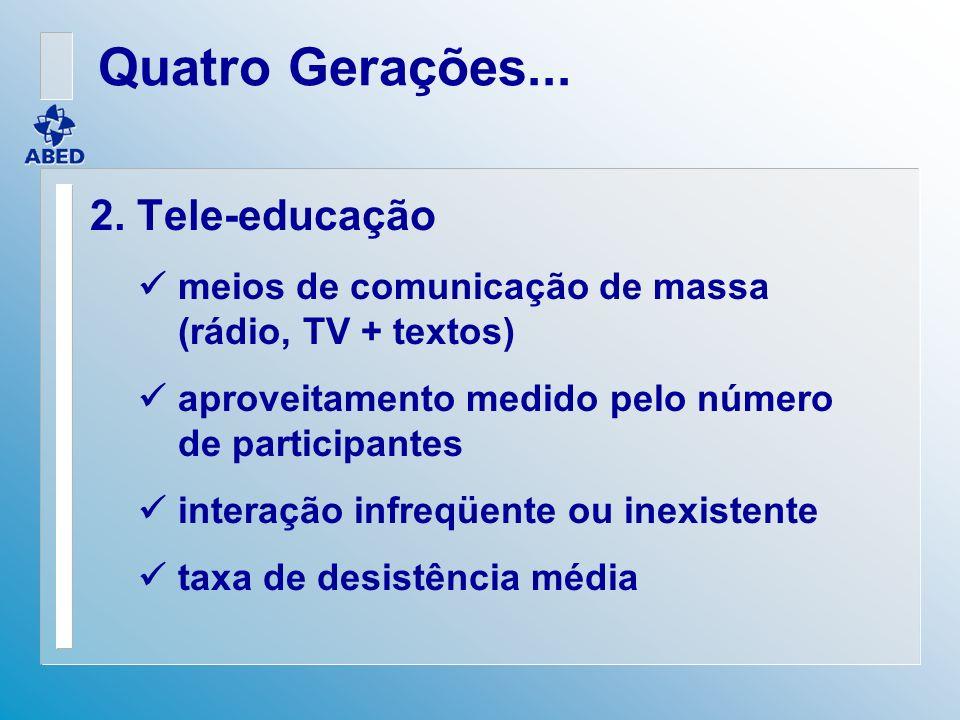 Quatro Gerações... 2. Tele-educação