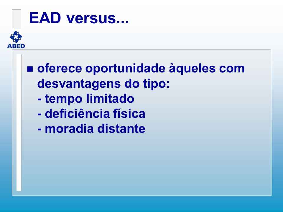 EAD versus...