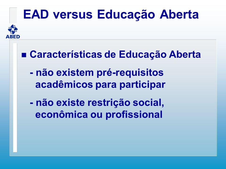 EAD versus Educação Aberta