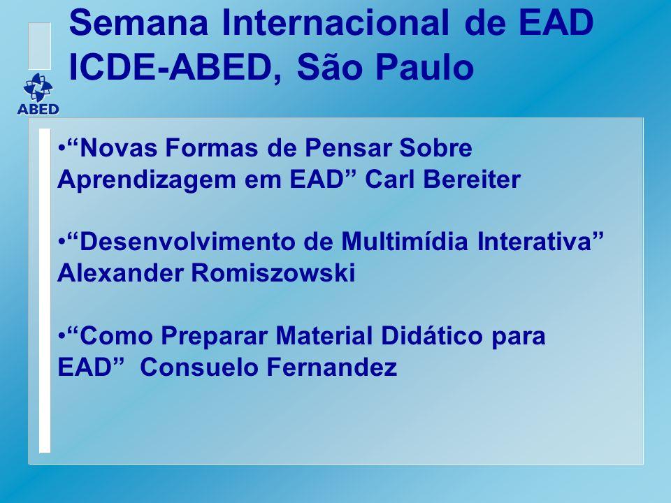 Semana Internacional de EAD ICDE-ABED, São Paulo