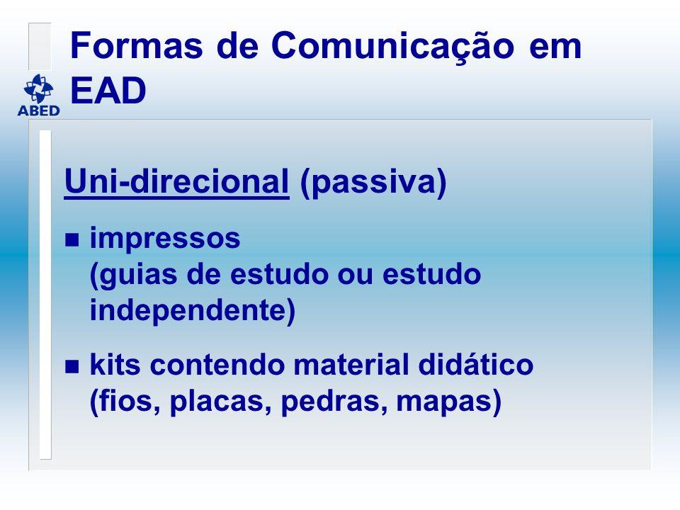 Formas de Comunicação em EAD