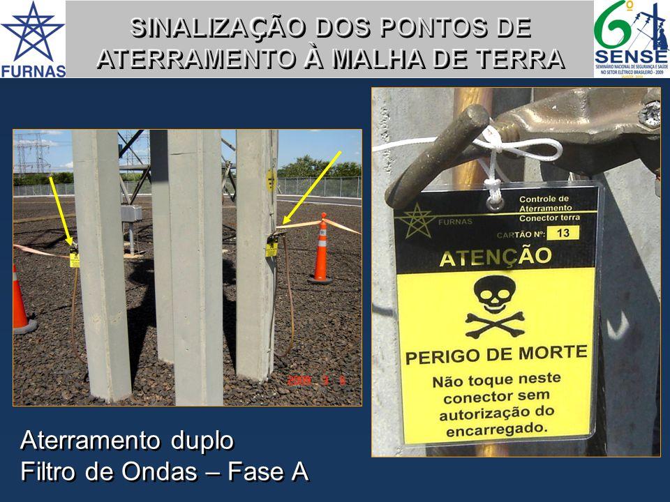 SINALIZAÇÃO DOS PONTOS DE ATERRAMENTO À MALHA DE TERRA