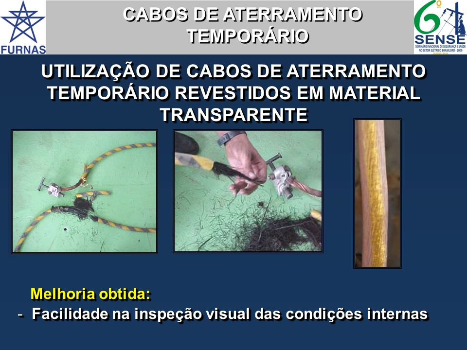CABOS DE ATERRAMENTO TEMPORÁRIO