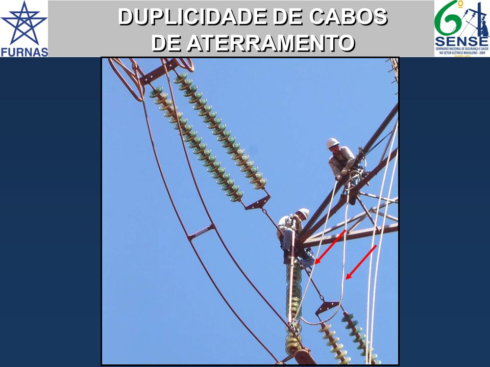 DUPLICIDADE DE CABOS DE ATERRAMENTO