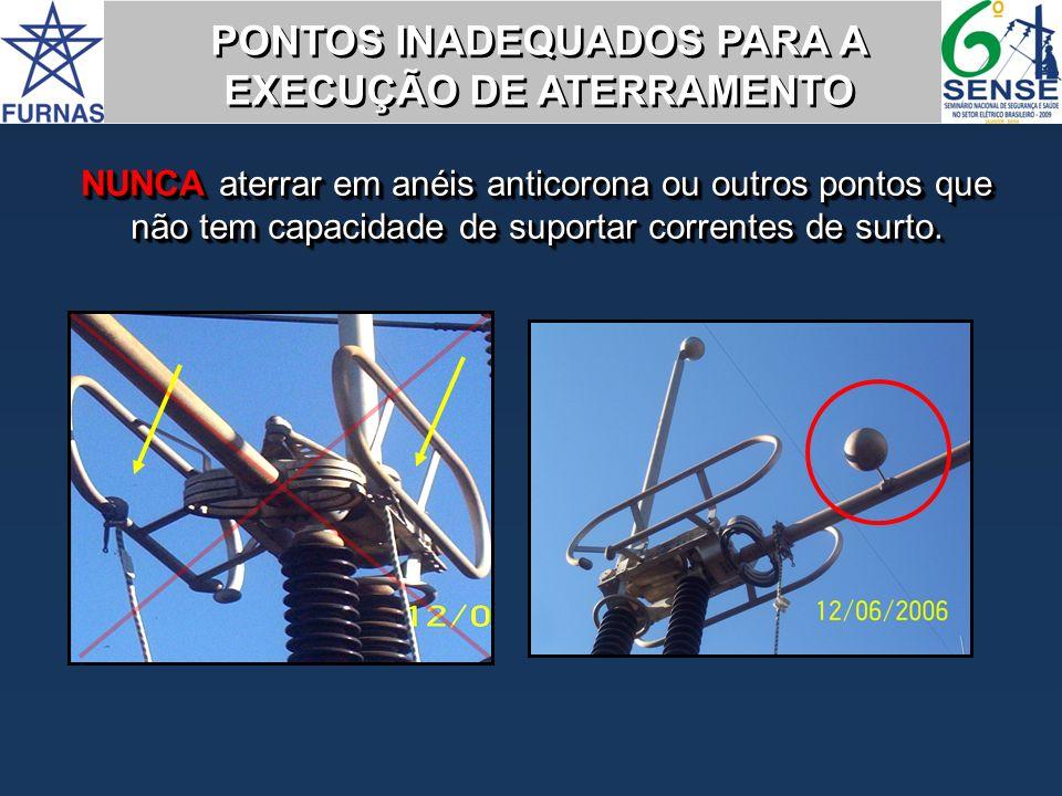 PONTOS INADEQUADOS PARA A EXECUÇÃO DE ATERRAMENTO