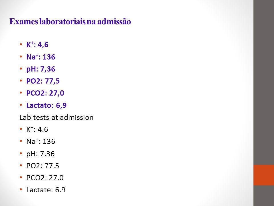 Exames laboratoriais na admissão