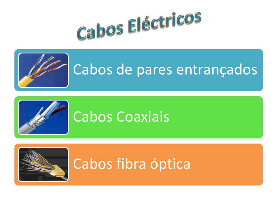 Cabos Eléctricos Cabos de pares entrançados Cabos Coaxiais
