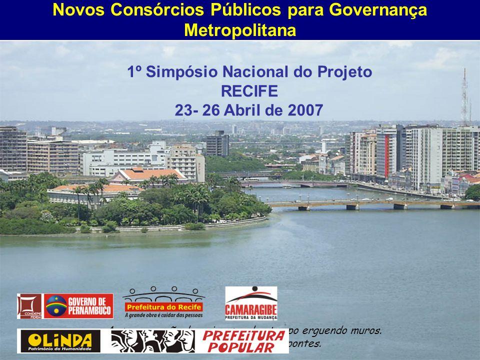 Novos Consórcios Públicos para Governança Metropolitana