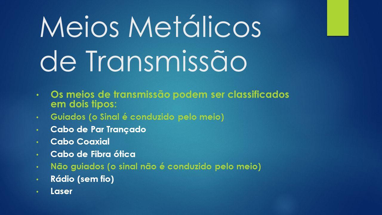 Meios Metálicos de Transmissão